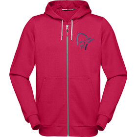 Norrøna /29 Cotton Zip Hoodie Herre jester red